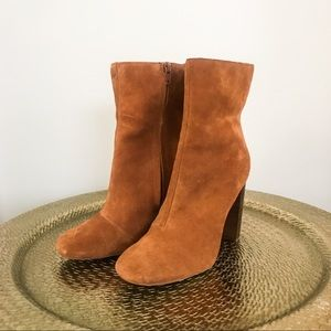 Sole Society heeled camel bootie